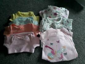 Mothercare vests and babygrows