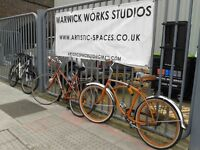 Current studio availability in East London: Unit 1, Warwick Works, Downs Road, Hackney E5 8QJ