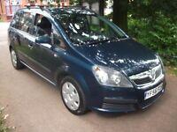 Vauxhall Zafira 1.6 i 16v Life 5dr£2,200 NEW MOT LOW INSURE + CHEAP TAX 2007 (56 reg), MPV