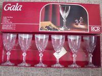 6 X ROYAL CRYSTAL ROCK CRYSTAL VINTAGE WINE GLASSES