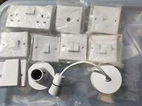 Volex lighting sockets fused spur cooker outlet TV BT 2way 2gang 3gang twin plugs