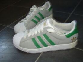 Adidas Trainers Size 6 Three Stripes
