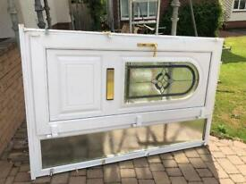 uPvc frond door with side panel in good condition