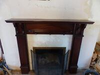 Wooden Mantelpiece - Large