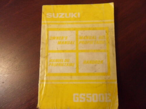 Suzuki GS500E Owners Manual Riders Handbook