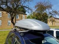 Thule atlantis 200 roof box with aero bars