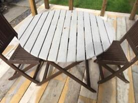 £15 garden bistro wooden table and chair set