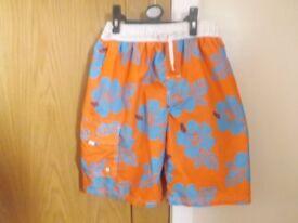 Boys Next Orange Swim Shorts Age 11-12