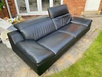 harvey's modern leather sofa