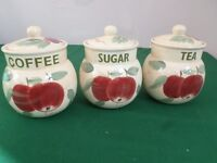London Pottery Tea Coffee Sugar Containers