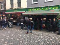 Experienced Waiter / Waitress needed for The Mediterranean Cafe in Soho