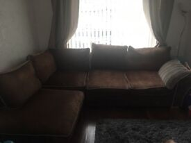 6 Seater Cushioned Sofa and 2seater Love Seat For Sale