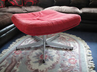 Nice large red square revolving footstool with metal feet - collection from Fulham SW6 - Great deal!