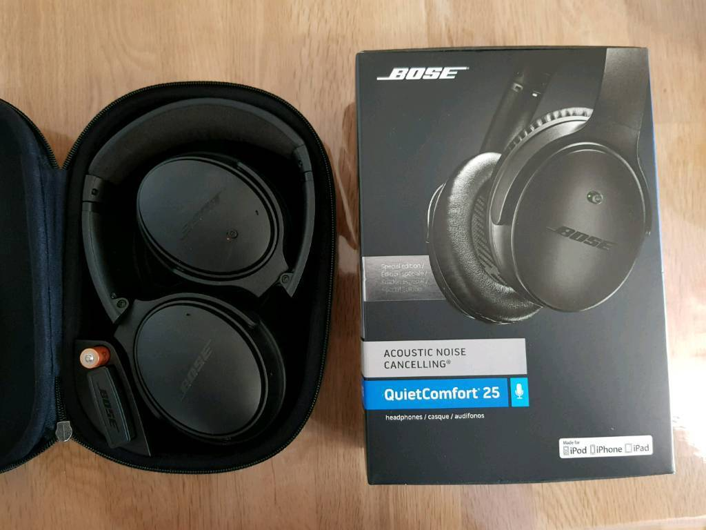 Bose Qc25 Limited Edition Black Noise Cancelling Headphones In