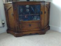 Medium oak corner tv cabinet