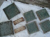 SELECTION OF ORIGINAL VICTORIAN CAST IRON AIR VENT GRILLE
