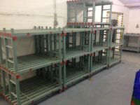 REA Plasrack Hygienic Food Racking/Shelving Plastic Euro Shelving - Chiller/Freezer Racking Storage