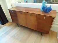 Avalon Retro Tola Wood Sideboard 1950's 1960s Cupboard Storage Draws TV Stand