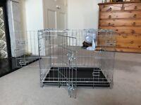 Dog crate - 2 door - excellent condition