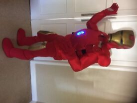 UK SELLER look alike brand new Ironman with lights delux Professional Mascot Costume fancy dress