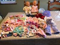 Baby born baby Annabelle dolls, clothes, buggy and accessories