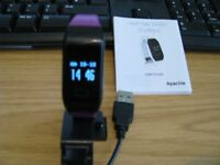 Apache Heart Rate Monitor Smartband with spare band in good working order.