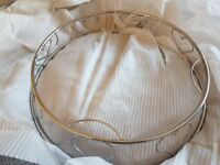 round silver heart cake stand large new