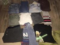 Bundle of women's and men's clothes