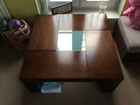 Solid wood coffee table vgc