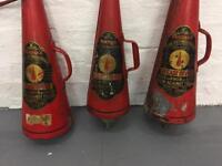 antique fire extinguishers vintage cones