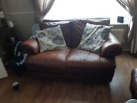 Leather sofa x1 3 seater x1 2 seater