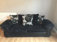 2 matching large sofas excellent condition