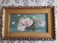 Gold effect framed oil paintings