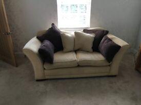 Two Luxury Three Seater Sofas