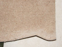"Two Rolls Beige Carpet Remnant / Roll End - Never Used - 42"" x 82"" and 49"" x 52"""