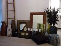 Selection of mirrors, vases and beautiful ornaments to give your home a new look for Christmas!