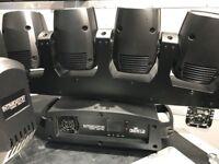 4X Chauvet Intimidator Wave 360 - Multi Head Moving Lighting Effect