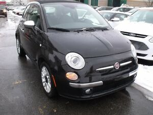 2012 Fiat 500 Lounge //  *convertible* cuir // auto // mags