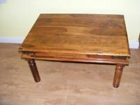 CAN DELIVER - SHEESHAM ROSEWOOD COFFEE TABLE IN GOOD CONDITION