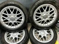 18 inch 5x112 genuine BBS RS alloy wheels