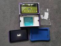Purple Tesco Hudl 2 and accessories