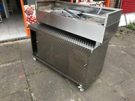 With table BBQ mangal Turkish commercial catering kitchen equipment restaurant kebab shop
