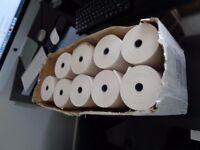 Cash till rolls/printer rolls. Brand new, still in box.