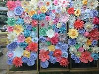 Paper Flower Wall for rent