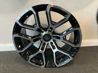 """20"""" x 9.5 Hawke Drift alloy wheels and tyres (6x139) Suitable for most Ford Ranger models"""