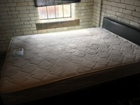 king size bed, good condition 2 x 1.5 metres