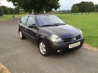 2003 RENAULT CLIO 1.2 PETROL BLACK BILLABONG ONLY 26754 MILES SAME OWNER LAST 12 YEARS