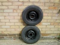 trailer wheels x 2