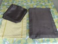 Set of 8 Chocolate Brown Placemats and Matching Serviettes