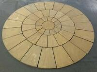 Stone Concrete Circle Patio Paving Set 3.0 Meters Cotswold Stone Looks Really Great.